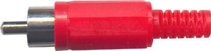 Cinch konektor plast červený - DVDK960