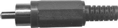 Cinch konektor plast černý - DVDK961