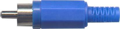 Cinch konektor plast modrý - DVDK962