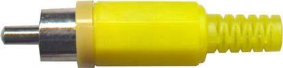 Cinch konektor plast žlutý - DVDK965