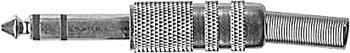 Konektor JACK 6,3 S nikl - DVDK015