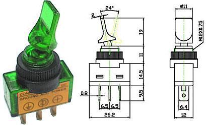 Přepínač páčkový - LVDK311