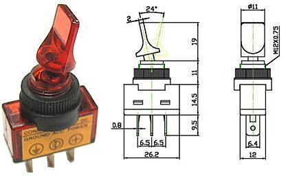 Přepínač páčkový - LVDK312