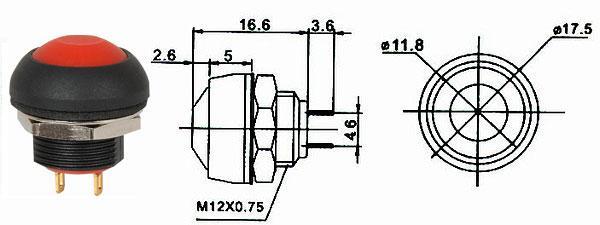 Tlačítko spínací - LVDK329