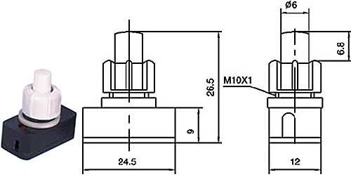 Vypínač stiskací - LVDK334