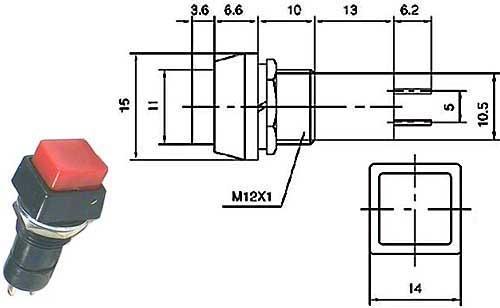 Vypínač stiskací - LVDK335