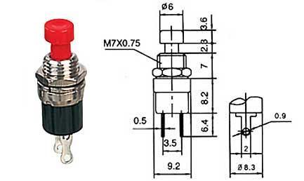 Tlačítko rozpínací - LVDK342