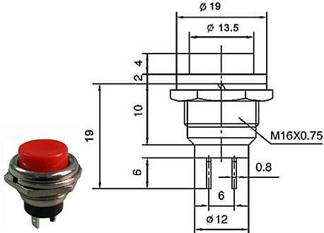 Tlačítko spínací - LVDK343