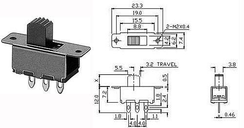 Přepínač posuvný - LVDK346