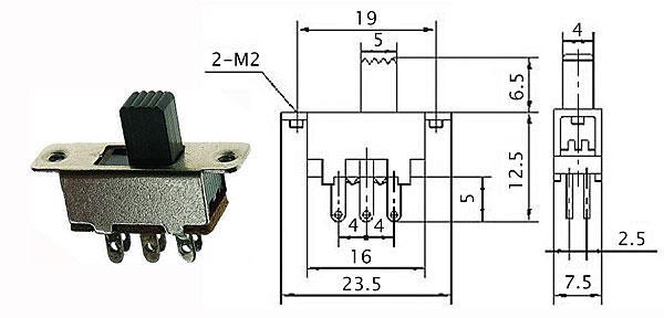 Přepínač posuvný - LVDK349