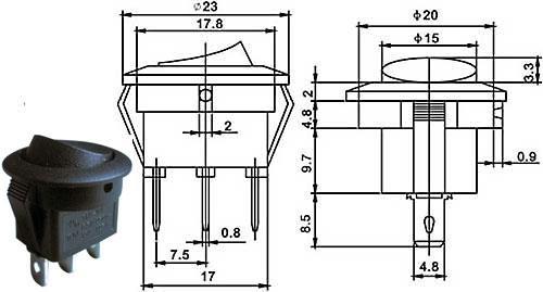 Přepínač kolébkový - LVDK483