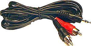 "2x cinch /Jack 3,5"" - 1,5 m - NVDK010"